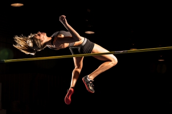 High Jumper, Carly, photographed by Kansas City photographer, Mike Curtis