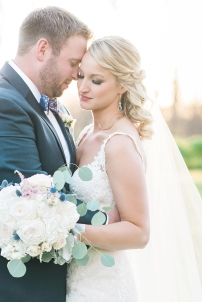 Photograph of a bride and groom by Nashville-based photographer, Rebecca Denton
