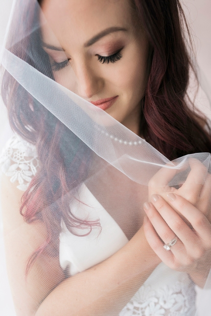 Photograph of a bride by Nashville-based photographer, Rebecca Denton