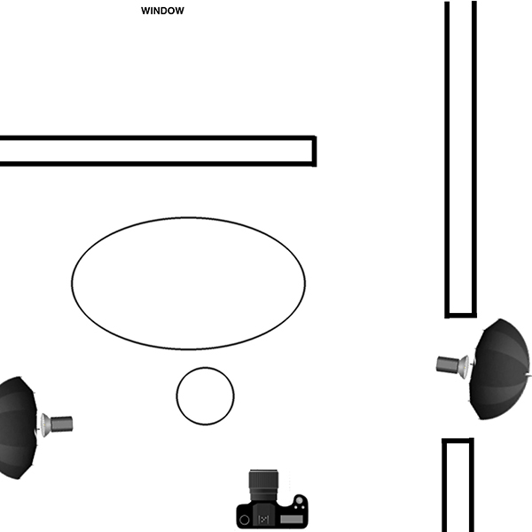Lighting diagram by Architecture and Product Photographer, Fielder William Strain