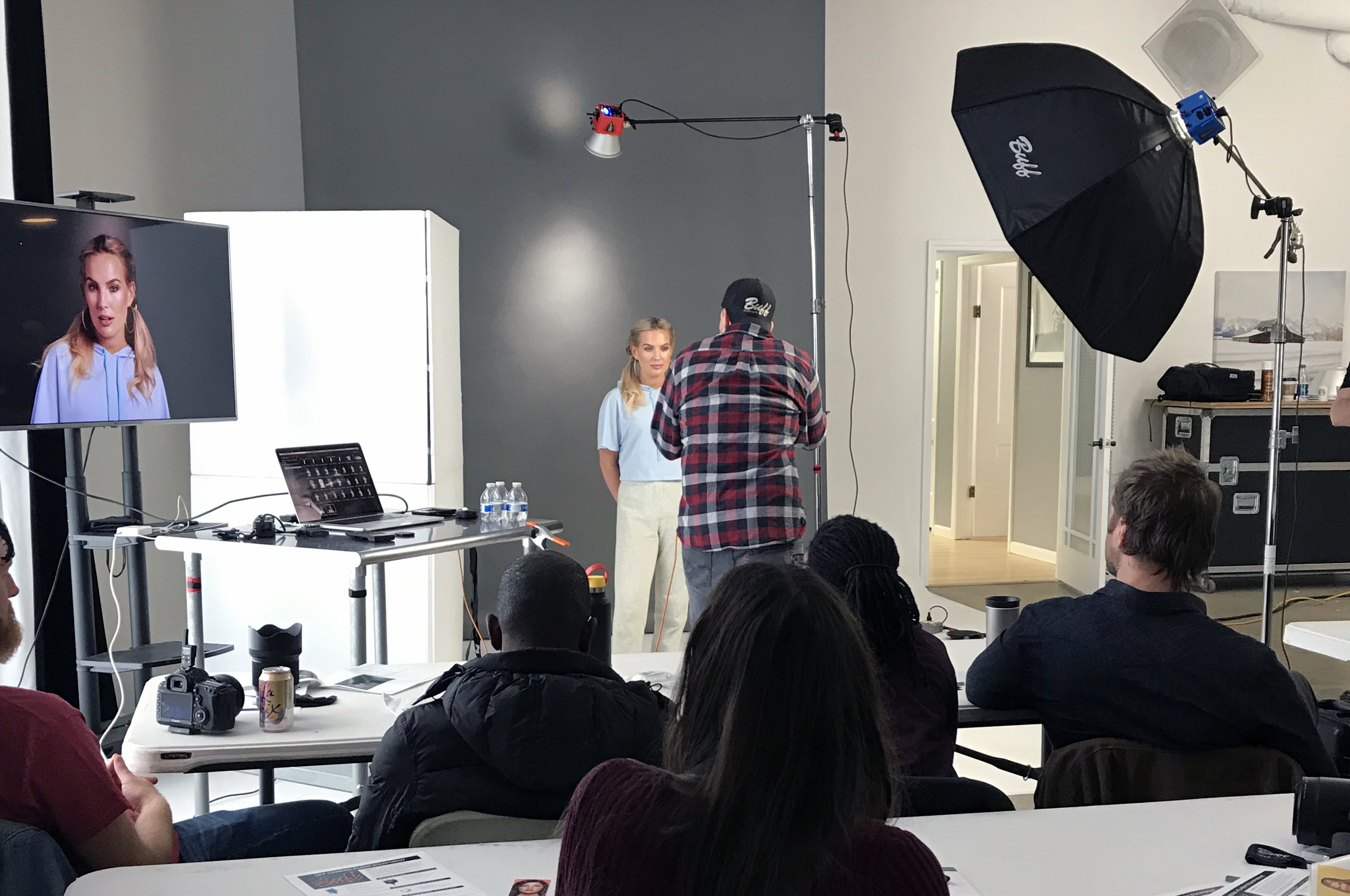 Jeff Carpenter during his Next Level Lighting workshop with model Allee-Sutton Hethcoat at Westlight Studios in Franklin, TN.