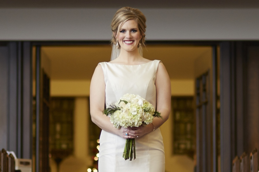 Bridal portrait by Illinois based photographer, Ben Romang
