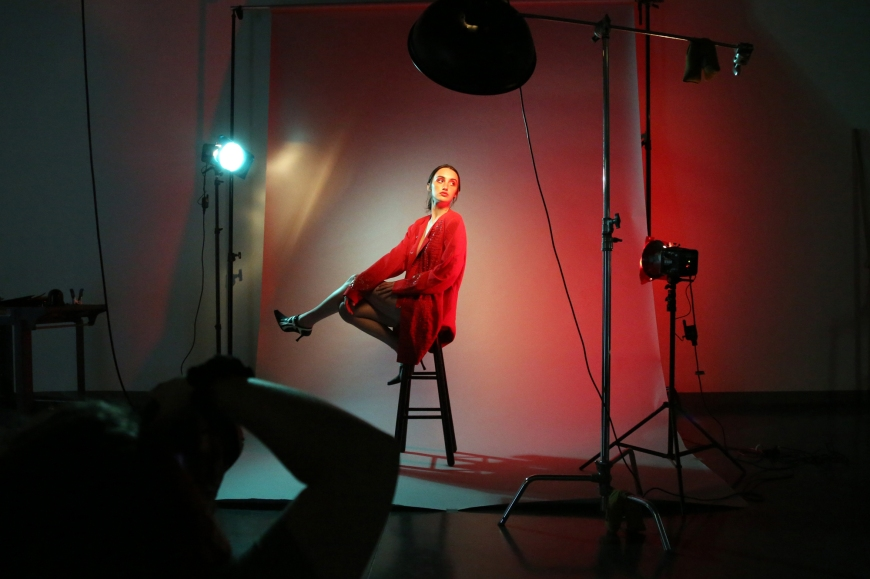Behind the scenes of Brooklyn Parker by Samantha Gordon photographed at Nossi College of Art