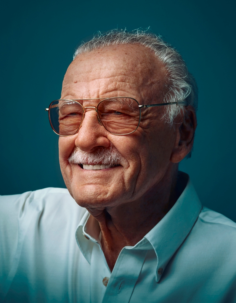 Marvel comics, Stan Lee, photographed by Matt Carr