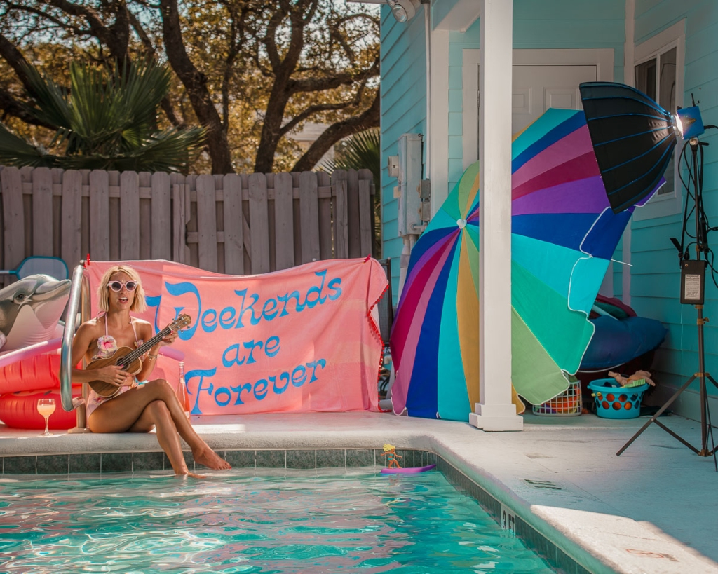 Behind the Scenes of Jessica Wagner of The Weekender blog photographed by Robert Wagner