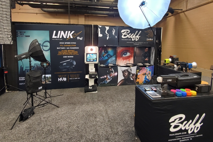 Paul C. Buff, Inc. Tradeshow booth at Imaging USA 2020